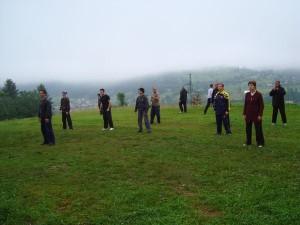 Тренировочный лагерь в Карпатах, 2009 год.