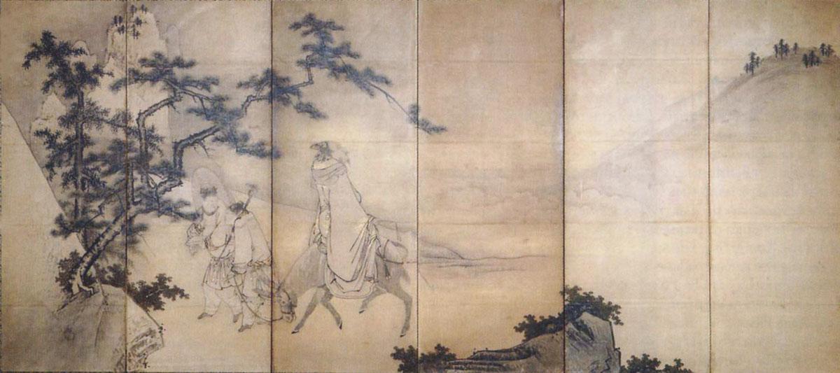 Су Дунпо, взирающий на упирающегося мула
